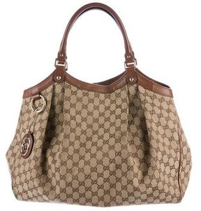 Gucci Large GG Canvas Sukey Tote - BROWN - STYLE