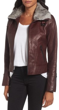 Andrew Marc Women's Cambridge Genuine Rabbit Fur & Leather Jacket
