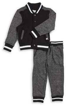Sovereign Code Little Boy's Two-Piece Bomber Jacket and Jogger Pants Set