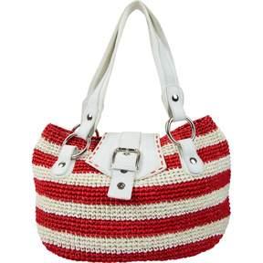 Dolce & Gabbana Red Wicker Handbag