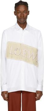 Loewe White Logo Patch Shirt