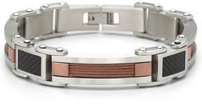 JCPenney FINE JEWELRY Mens 8 1/2 Carbon Fiber Bracelet