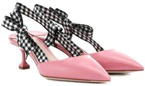 Miu Miu Patent leather slingback pumps