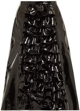 Christopher Kane Ruffled patent-leather skirt