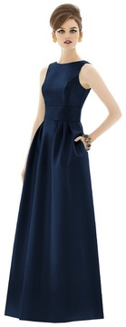 Alfred Sung D661 Bridesmaid Dress in Oyster