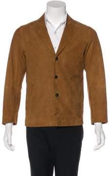 Officine Generale Suede Notch-Lapel Jacket