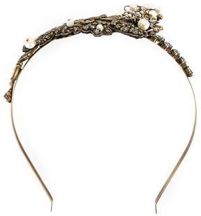 Alberta Ferretti stone embellished twisted tiara
