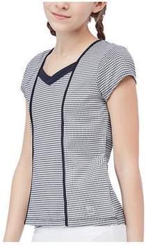 Fila Girls' Gingham Cap Sleeve Top