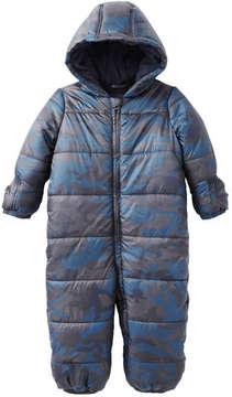 Joe Fresh Baby Boys' Print All-in1 Snowsuit, Blue (Size 3-6)