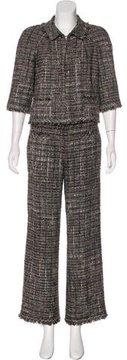 Chanel Metallic Tweed Pantsuit