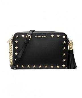 Michael Kors Women's Black Leather Shoulder Bag. - BLACK - STYLE