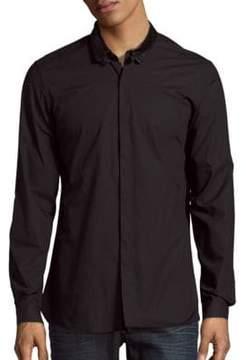 The Kooples Lambskin Collar Sportshirt
