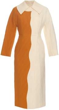 Emilia Wickstead Holly bi-colour cloqué coat