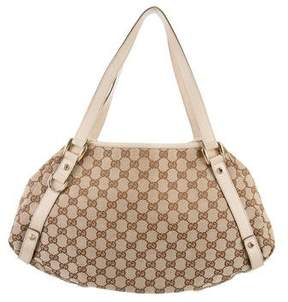 Gucci GG Canvas Abbey Tote - BROWN - STYLE