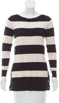 Claudie Pierlot Striped Wool-Blend Sweater