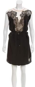 Edun Sleeveless Lace-Accented Dress