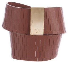 Diane von Furstenberg Leather Wide Belt
