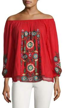 Kas Embroidered Off Shoulder Blouse