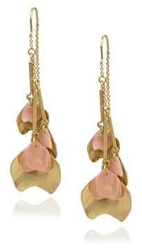 Danielle Nicole Blossom Front Back Petal Drop Earrings