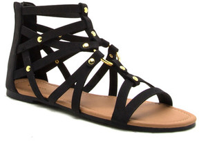Qupid Archer O-Ring Strappy Gladiator Sandal