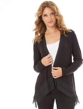 Apt. 9 Women's Chiffon Trim Cardigan