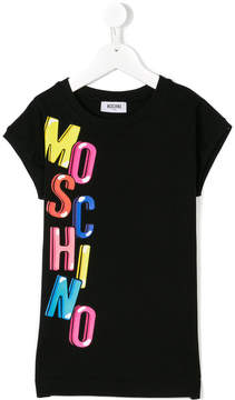 Moschino Kids logo print T-shirt dress