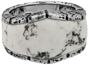 Stephen Webster 925 Sterling Silver Highwayman Oxidised With Howlite Inlay Ring Size 10