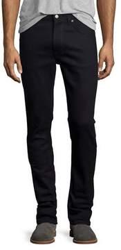 Nudie Jeans Lean Dean Dry Black Indigo Skinny-Leg Jeans, Black