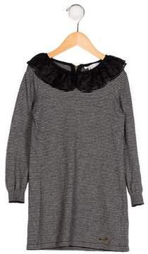 Little Marc Jacobs Girls' Collared Sweater Dress