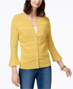 Charter Club Bell-Sleeve Cardigan, Created for Macy's
