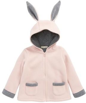 Tucker + Tate Toddler Girl's Bunny Ear Fleece Hooded Jacket