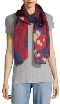 Vince Camuto Shatter Floral Silk Scarf