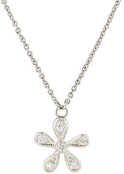 Cathy Waterman Women's White Diamond & Platinum Daisy Pendant Necklace