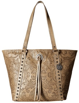 American West Baroque Zip Top Bucket Tote Tote Handbags