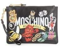 Moschino Patched Zip Wristlet