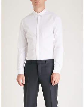 The Kooples Hidden placket fitted cotton shirt