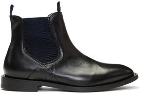 H By Hudson Black Wynford Chelsea Boots