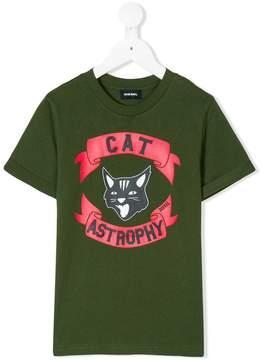 Diesel Cat Astrophy printed T-shirt
