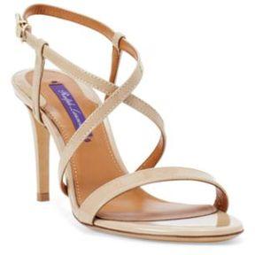 Ralph Lauren Arissa Patent Leather Sandal Nude 36.5