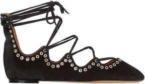 Isabel Marant 10mm Leo Lace-Up Ballerina Flats