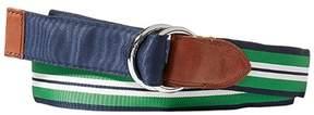 Polo Ralph Lauren Blue Green Men's Size Large L Reversible Belt