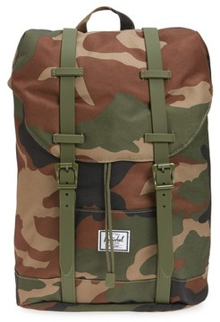 Herschel Boy's Retreat Camo Backpack - Brown