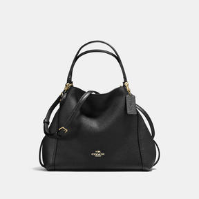 COACH Coach Edie Shoulder Bag 28 - LIGHT GOLD/BLACK - STYLE