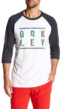 Oakley 3/4 Sleeve Front Graphic Print Tee