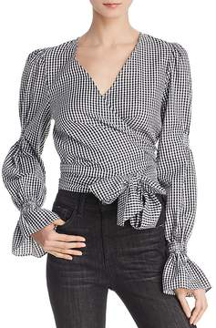 C/Meo Collective Best Love Gingham Wrap Top