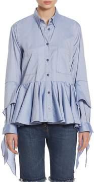 Each X Other Women's Ruffled Cotton Poplin Shirt