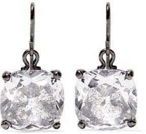 Bottega Veneta Oxidized Silver, Glass And Cubic Zirconia Earrings