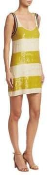 3.1 Phillip Lim Striped Sequin Shift Dress