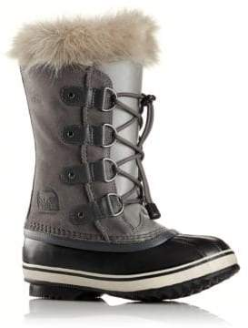 Sorel Kid's Joan Of Arctic Faux Fur-Cuff Suede Snow Boots