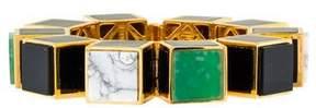 Eddie Borgo Inlaid Large Cube Bracelet